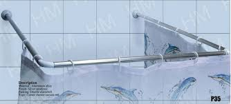 80cm Curtain Pole U Shaped High Quality Stainless Steel Shower Curtain Rail Shower