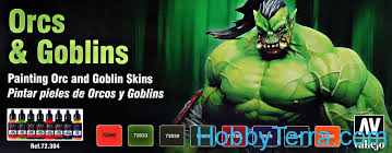 game color set orcs u0026 goblins by angel giraldez 8x17ml vallejo