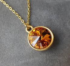 topaz crystal necklace images Gold topaz necklace november birthstone jewelry crystal jpg