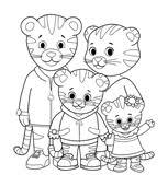 print u0026 color daniel tiger u0027s neighborhood pbs kids