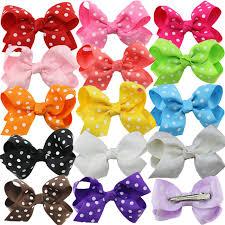 boutique hair bows aliexpress buy polka dot grosgrain ribbon hairbows kids