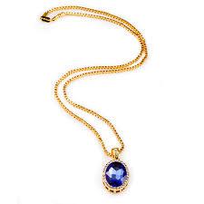 aliexpress buy nyuk gold rings bling gem nyuk bling iced out blue pendant chain gold ellipse black