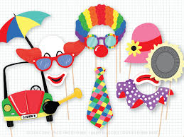 circus clown photo booth props photobooth props circus