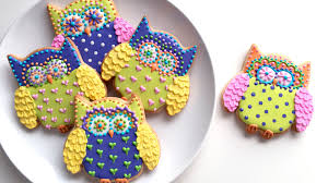 how to decorate colorful owl cookies youtube