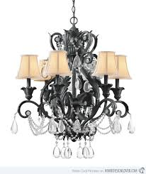 Iron Chandelier With Crystals 20 Wrought Iron Chandeliers Home Design Lover