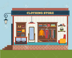 clothes shop clothing store and woman clothes shop and boutique shopping
