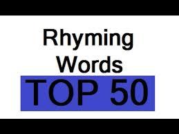 rhymes rhyming words for kindergarten songs song children