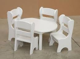american doll dining table american doll dining table w 4 chairs amish made white solid