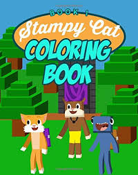 stampy cat coloring book unofficial minecraft coloring book ft