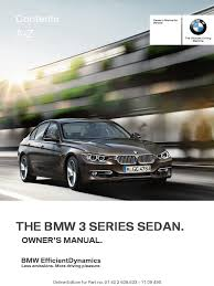 bmw f30 sedan owners manual pdf trunk car menu computing