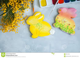 Decorated Easter Bunny Cookies by Decorated Easter Bunny Cookies Stock Photo Image 88544567