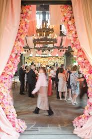 Curtain Drapes For Weddings Amazing Floral Curtains Flanking The Reception Entrance Harwell