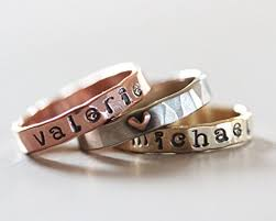 personalized rings for custom name personalized ring gift for christmas gift