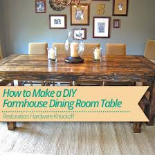 Dining Room Tables Restoration Hardware - how to make a diy farmhouse dining room table restoration