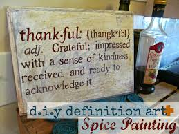 diy thanksgiving definition spice painting
