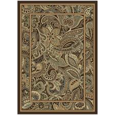 Paisley Area Rug Shop Allen Roth Paisley Park Indoor Nature Area Rug Common 5 X