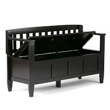 amazon com simpli home brooklyn entryway storage bench dark