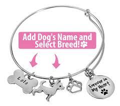 memorial bracelets for loved ones name engraved dog memorial bracelet lolawawa s