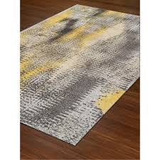 Modern Rug 8 X 11 Large Yellow Gray Area Rug Modern Grays Rc Willey