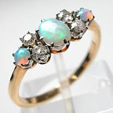 turquoise opal wedding rings ideas diamond white three stones centerpieces opal