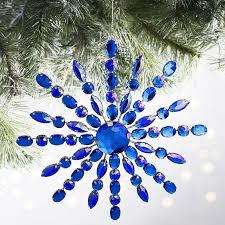 or blue gem snowflake ornaments pier 1 imports