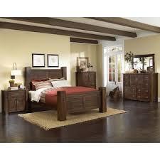 Trestlewood  Piece King Bedroom Set In Mesquite Pine Nebraska - Furniture mart bedroom sets