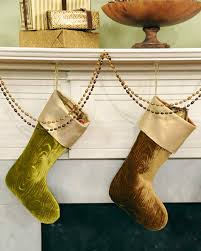 embossed velvet stocking u0026 video martha stewart