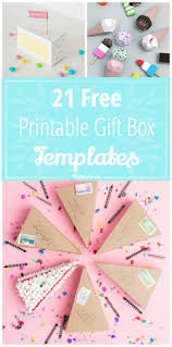 21 free printable gift box templates tip junkie