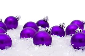 purple ornaments ornaments in the snow flickr
