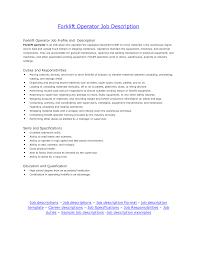 Maintenance Job Description Resume Job Warehouse Job Description Resume