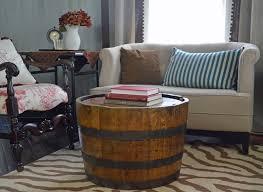 Barrel Side Table Creative Style Barrel Coffee Table Design Trends4us Wine Barrel