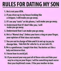 Son Memes - rules for dating my son funny memes