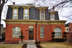 architecture appealing exterior home design with mansard roof and