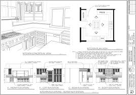 vibrant kitchen elevation cad main floor plan and elevations