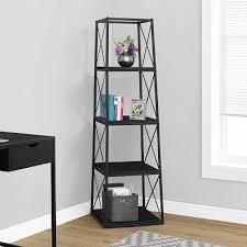 Metal Bookcase Nova Metal Bookcase In Black Bookshelf With Criss Cross Design