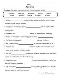 16 best images of adverb worksheets grade 4 adverbs worksheet