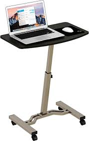 rolling stand up desk amazon shw height adjustable mobile laptop stand desk rolling