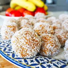 carrot cake bliss balls my lovely little lunch box
