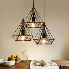 Hanging Light Fixtures From Ceiling Winsoon Vintage Island Triangle Twine Rope Ceiling Hanging L