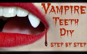 diy vampire fangs tutorial last minute halloween ideas youtube