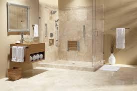 bahtroom cozy walk in shower near nice vanity plus glass bowl wash