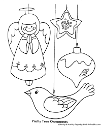 christmas kids coloring pages pretty tree ornaments