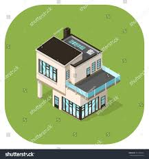 vector icon large ultra modern house stock vector 351446594