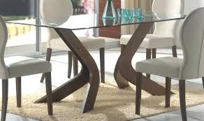 Pedestal Bases For Dining Tables Wood Table Bases Glass Top Dining Table With Wood Base