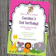 Jungle Theme Invitation Card Printable Party Animals Jungle Theme Birthday Invitation Or