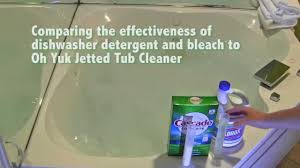 Bathtubs With Jets Dishwasher Detergent And Bleach Vs Oh Yuk Jetted Tub Cleaner Youtube