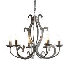 Wohnzimmer Lampe 6 Flammig Deckenleuchte Galedos Metall Grau 6 Flammig Lampadina A