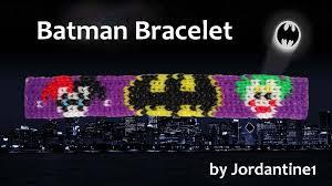 grid pattern alpha new batman bracelet alpha rainbow loom harley quinn bat