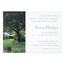 Funeral Service Announcement Wording Funeral Invitations U0026 Announcements Zazzle Co Uk