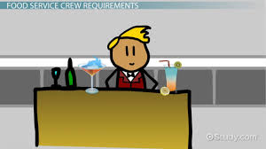 work on a food service crew job description and requirements